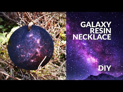 Resin GALAXY necklace DIY