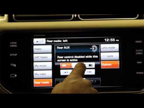 Range Rover Front Monitor System Playing DVD
