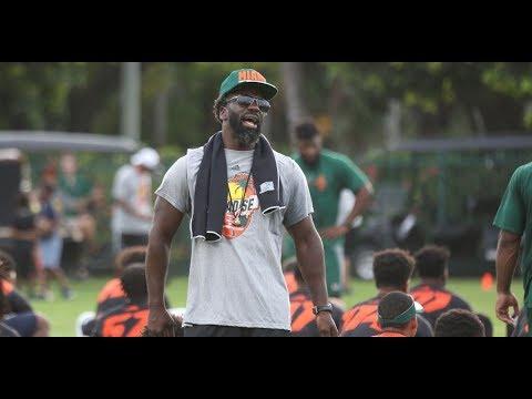 Ed Reed Coaching at Paradise Camp