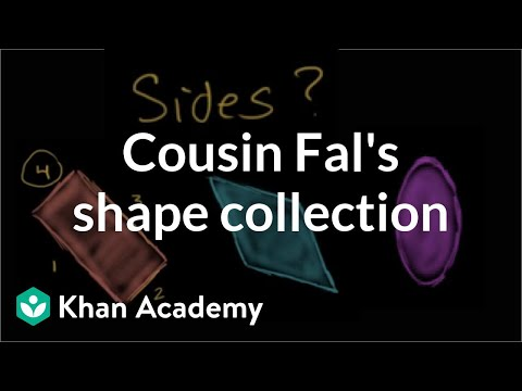 Cousin Fal's Shape Collection | Geometry | Early Math | Khan Academy