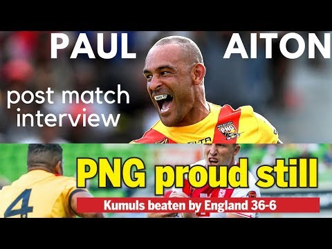 PAUL AITON INTERVIEW (PNG KUMULS VS ENGLAND RLWC 2017)