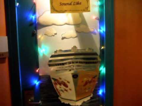 Cruise Cabin Door Decoration Youtube