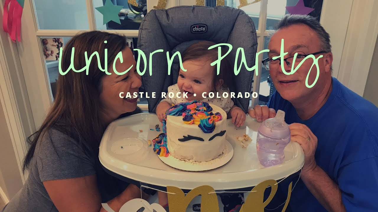 Happy Birthday PorterUnicorn Party For A ONE Year Old Colorado Happybirthday