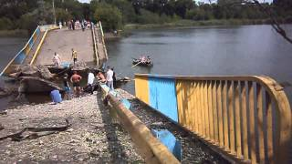 боевики взорвали мост Зугрэс Донецкой области. Украина.