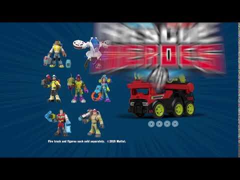 Rescue Heroes Transforming Fire Truck   Mattel