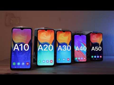 Сравнение Samsung A10, A20, A30, A40 и A50