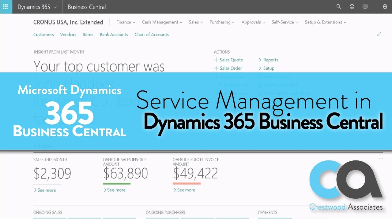 Service Management in Dynamics 365 Business Central