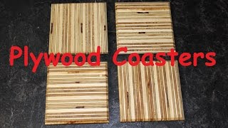 Plywood coasters