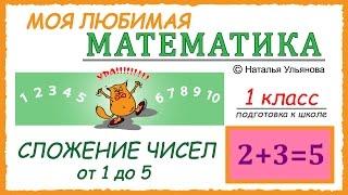Сложение чисел от 1 до 5. Математика 1 класс. Подготовка к школе.