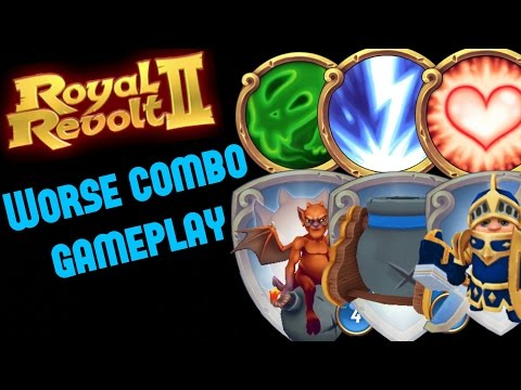 ROYAL REVOLT 2 - WEAKEST SPELLS/UNITS GAMEPLAY