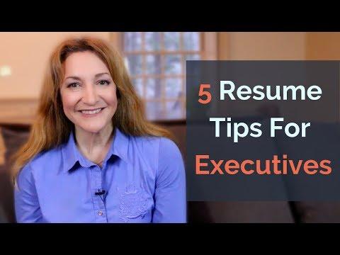 5 Resume Tips For Executives - Executive Insider