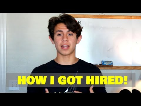 How To Get A Job As A Teen!! (Tips To Guarantee Getting Hired!)