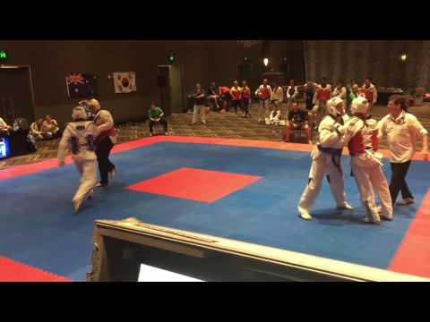 2016 Jupiters Pan Pacific Masters Games | Taekwondo 2 on 2 Sparring