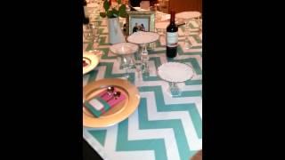 Sample bridal table