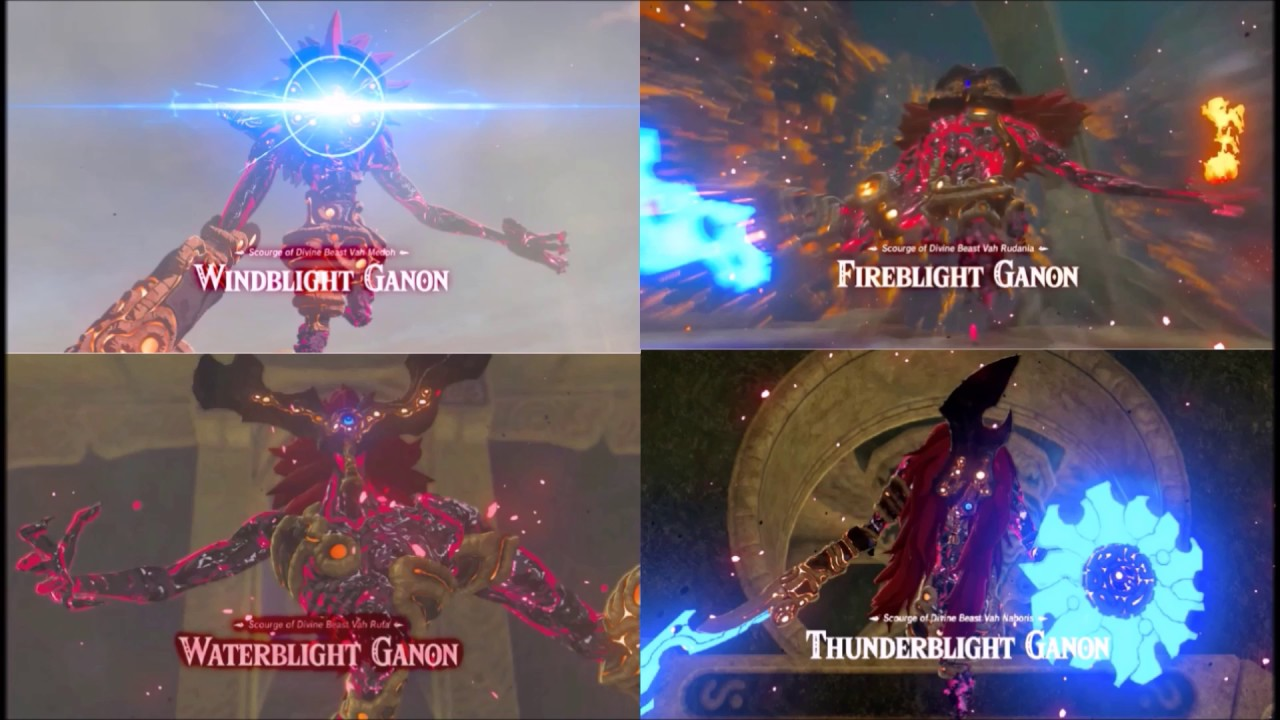 Quad Blight Ganon Mix The Legend Of Zelda Breath Of The Wild
