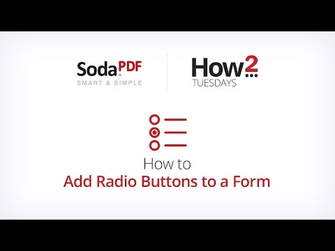 How to Add Radio Buttons to a Form