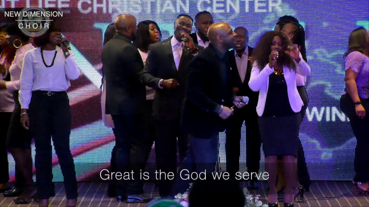 """GOD IS GREAT"" as performed by New Dimension Choir; Originally by Ricky Dillard"