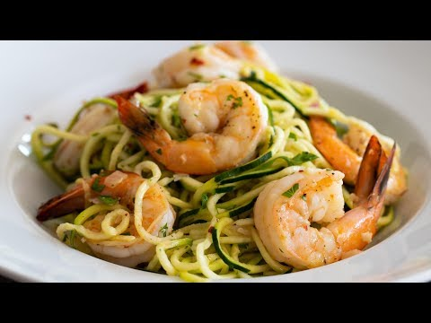 Shrimp Scampi With Zucchini Noodles  Spiralizer Recipe Featuring Zoodles