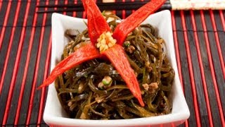 Меги-ча (салат из морской капусты по-корейски) видео рецепт