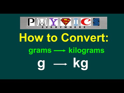 How to Convert g to kg (grams to kilograms) [EASY]