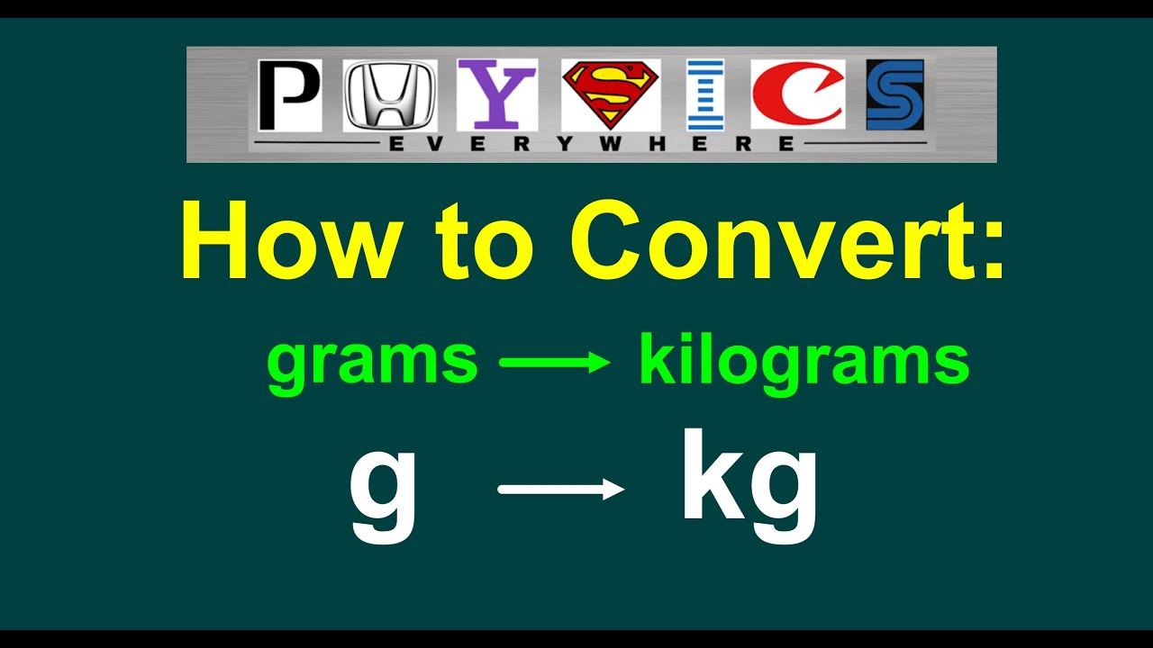 How to Convert g to kg (grams to kilograms) [EASY] - YouTube