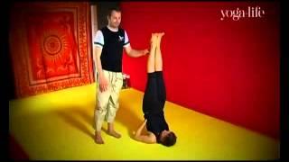 Отличный урок йоги - Сарвангасана