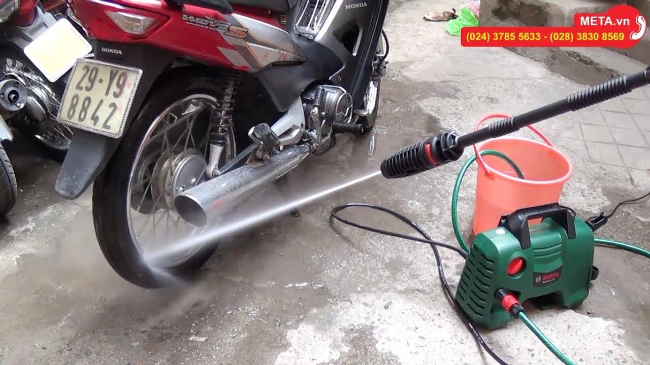 Review máy rửa xe Bosch Easy Aquatak 110 tự hút nước, mô tơ chổi than bền nhẹ