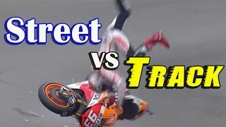 STREET vs TRACK - Safety vs Pushing The Limit - Street Rossi Stunting Fools