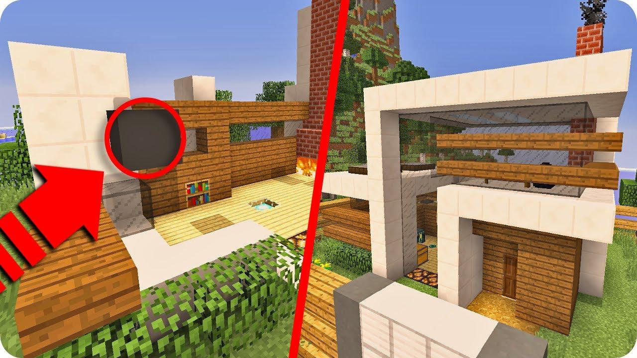 Incre ble casa moderna autom tica que se construye sola en for Casa moderna y automatica en minecraft