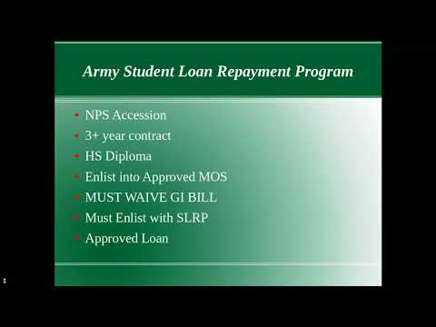 Army Student Loan Repayment Program