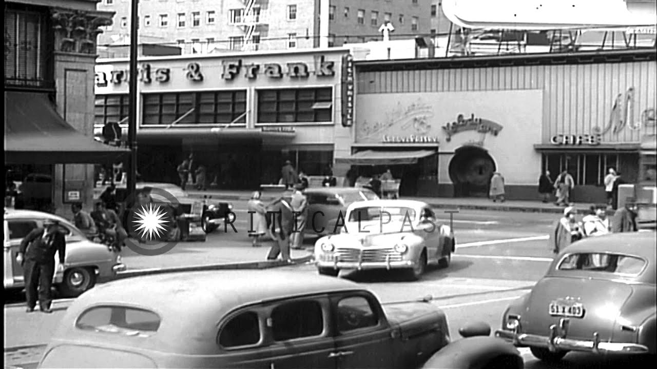 Honda Dealerships Near Me >> Street scenes near Hollywood and Vine in Los Angeles, 1950 ...