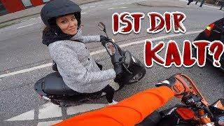 Motorrad im Winter? | Wheelie Training