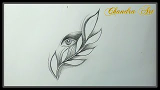 sketches cool pencil easy drawing eye paintingvalley