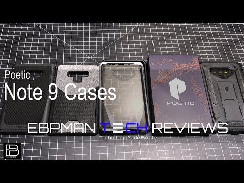 best sneakers 301c4 8b5a8 Poetic Samsung Galaxy Note 9 Cases - YouTube