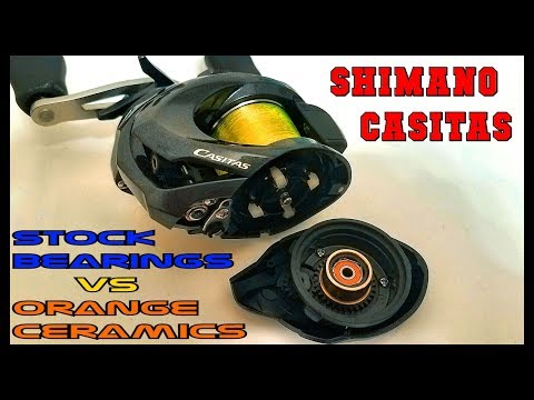$10 CERAMIC BEARINGS VS STOCK BEARINGS PART 1: THE $100 REEL SHIMANO CASITAS WITH SHOCK ENDING!!