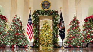 Melania Trump unveils White House Christmas decorations as she prepares to move out in January