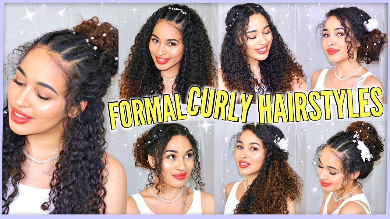 7 Best Curly Hairstyles For Prom Graduation Formals Weddings Naturally Curly Youtube