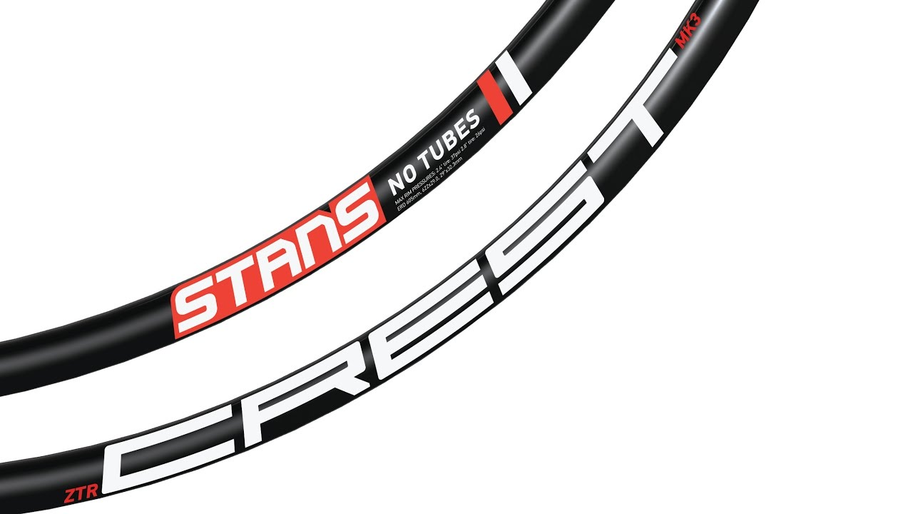 "Pair of Stan/'s NoTubes ZTR Crest Rims 27.5/"" 32 hole black"