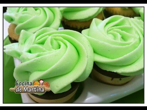 Como hacer Mini cupcakes cucurucho | Como hacer cupcakes | Cocina de Martina