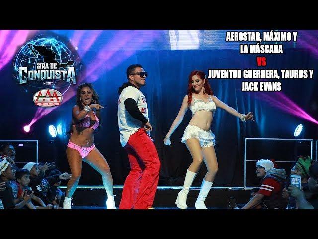 Aerostar, Máximo y La Máscara Vs Juventud Guerrera, Taurus y Jack Evans | Lucha Libre AAA Worldwide