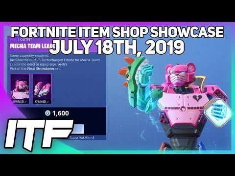 Fortnite Item Shop *NEW* MECHA TEAM LEADER SKIN + EMOTE! [July 18th, 2019] (Fortnite Battle Royale)