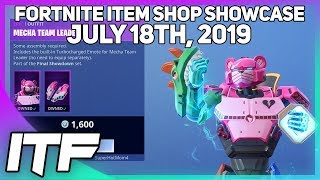 Fortnite Item Shop *NEW* MECHA TEAM LEADER SKIN + EMOTE! [July 18th, 2019] (Fortnite Battle Royale)