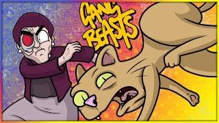 Gang Beasts Funny Moments: Grandma Kills The Kitty, Train Clutch Dodge & Pole-Dancing!