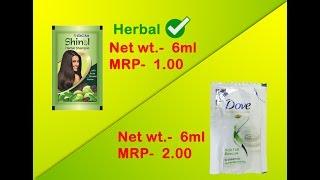 RCM Herbal Shampoo VS Dove Shampoo