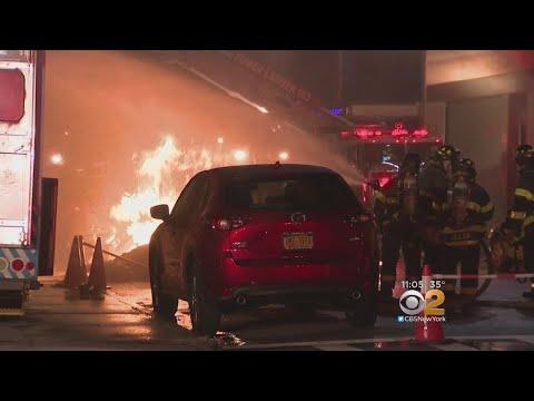 Ruptured Gas Main Fuels Queens Fire
