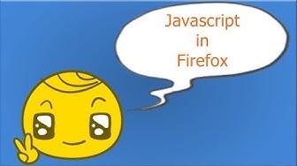 Javascript Deaktivieren/Aktivieren in FireFox