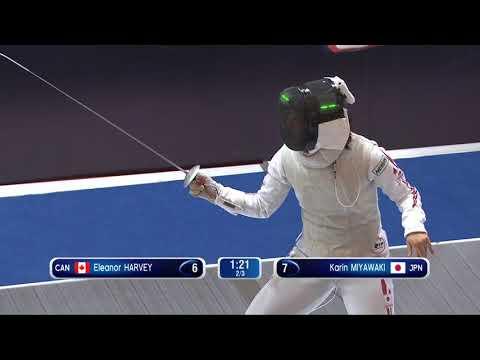Shanghai GP 2018 Women's Foil Semi Final 2   Miyawaki JPN Vs Harvey CAN