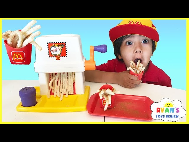 Mcdonald's French Fries Maker Happy Meal Magic Vintage McDonalds Food Toys Pretend Play Toy for Kids