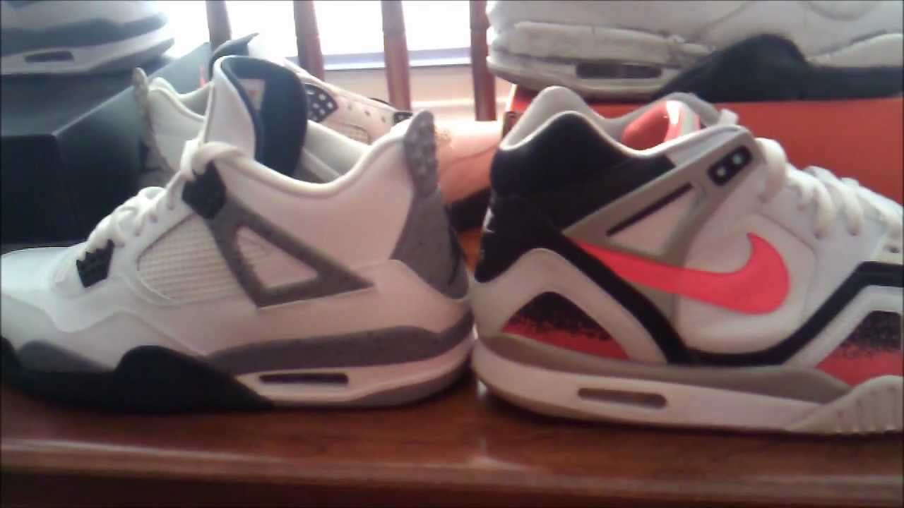 066a5dfbfae Nike Air Tech Challenge 2 vs. Air Jordan 4 (2012 and 1999 Retro) - YouTube