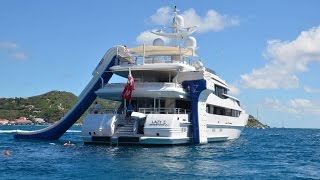 FunAir - superyacht toys including our yacht slide, climbing wall and Floating Island